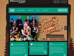 Port Macquarie Website Design - Wildwood Music Festival 2016